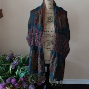 NWT Multi colored shawl